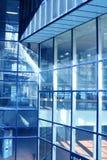 Azul do salão do negócio fotografia de stock