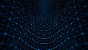 Azul do teste padrão de grade da distorção ilustração do vetor
