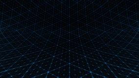 Azul do teste padrão de grade da distorção ilustração royalty free