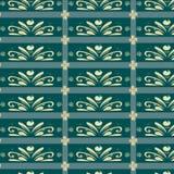 Azul do teste padrão do ornamento Fotos de Stock