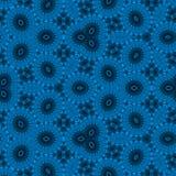 Azul do teste padrão Textura abstrata à moda Repetindo elementos geométricos das telhas backdrop ilustração do vetor