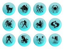 Azul do zodíaco ilustração stock