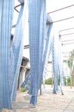 Azul e branco Foto de Stock Royalty Free