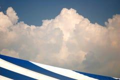 Azul e branco Fotos de Stock