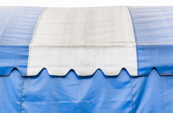 Azul e branco da lona Foto de Stock