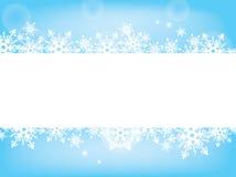 Azul e branco da proposta do cartão do desejo do floco de neve Fotos de Stock Royalty Free