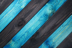 Azul e escuro - fundo de madeira azul da textura foto de stock
