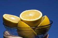 Azul e laranjas de céu fotos de stock royalty free