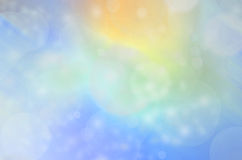 Azul e ouro Bokeh Imagens de Stock Royalty Free