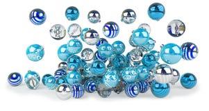 Azul e rendição das quinquilharias 3D do White Christmas Foto de Stock