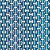 Azul e teste padrão retro de Brown Imagens de Stock Royalty Free