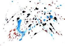 Azul e textura pintada preto Fotografia de Stock Royalty Free