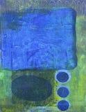 Azul e verde abstratos ilustração royalty free