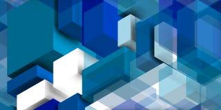 Azul e whitecomposition para a parede azul Fotografia de Stock