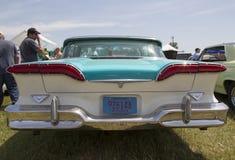 1958 azul Edsel Citation Rear View Imágenes de archivo libres de regalías