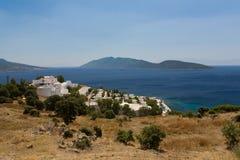 Azul egeo Imagenes de archivo