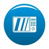 Azul eléctrico del icono del horno de microondas ilustración del vector