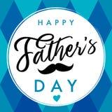 Azul elegante de la bandera de las letras del padre del día feliz del ` s Imagen de archivo libre de regalías