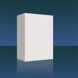 Azul em branco da caixa ilustração stock