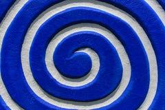 Azul espiral branco Vista superior e fim acima Fotografia de Stock