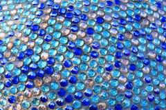 Azul estrutural do mosaico da parede, fundo da abstração da cor Fotos de Stock