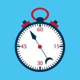 Azul excedente liso do cronômetro Imagens de Stock