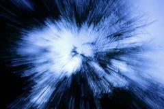 Azul explosivo Fotografía de archivo