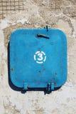 """Azul fechado velho do portal identificado por meio de """"do â – 3 fotos de stock"""
