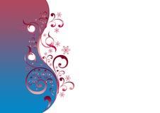 Azul floral ilustração royalty free