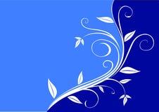 Azul floral ilustração do vetor