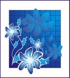 Azul Flower2 Foto de archivo libre de regalías