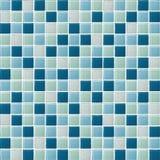 Azul a foto ou o tijolo real de alta resolu??o da parede da telha sem emenda e fundo do interior da textura ilustração stock