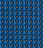 Azul, fundo com esferas de prata Fotografia de Stock