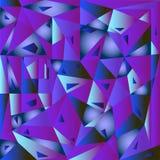 Azul geométrico abstracto del fondo Fotos de archivo