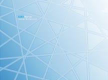 Azul geométrico abstrato do fundo Imagem de Stock