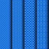 Azul geométrico ajustado do teste padrão Foto de Stock