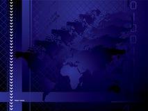 Azul global do fundo ilustração stock