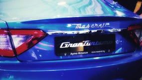Azul grande do turismo de Maserati fotografia de stock royalty free