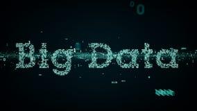 Azul grande dos dados das palavras-chaves binárias