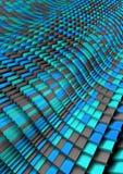 Azul Grey Abstract de la onda del ladrillo Imágenes de archivo libres de regalías