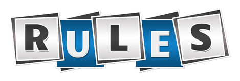 Azul Grey Blocks das regras Fotos de Stock