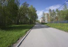 Azul gris del camino vacío de diversos colores fotos de archivo libres de regalías