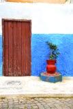 azul histórico en el florero antiguo po de África del estilo del edificio libre illustration
