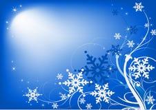 Azul horizontal do fundo do Natal Foto de Stock Royalty Free