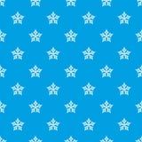 Azul inconsútil de estrella del vector convexo del modelo stock de ilustración