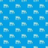 Azul inconsútil de la base de datos y del modelo del cortafuego Fotografía de archivo libre de regalías