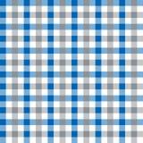 Azul inconsútil del vintage y textura de Grey Checkered Fabric Pattern Background Imagen de archivo