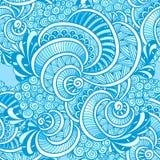Azul inconsútil marino del modelo del zen del enredo del garabato abstracto del zen libre illustration