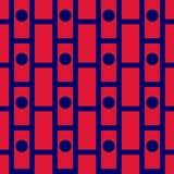 Azul inconsútil y rojo del modelo de la tela escocesa de tartán Fotografía de archivo