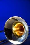 Azul isolado Bk do Trombone Fotografia de Stock